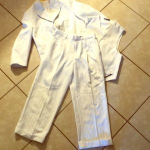 Other - BOYS SIZE 8 PINSTRIPED  3 PIECE SUIT.